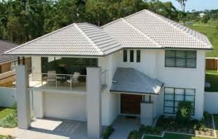 Concrete Roof House Plans Hip Roof Design With Concrete Roof Tiles Bristile