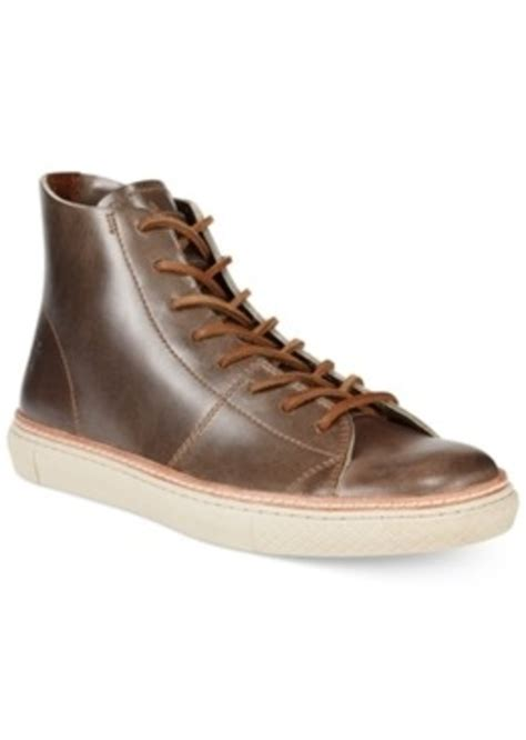 mens leather high top sneakers frye frye gates high top leather sneakers s shoes