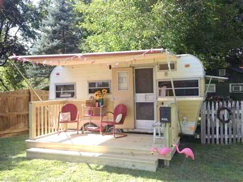 Shed Designs With Porch living simply part 1 vintage trailers cozy little house