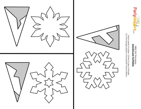 easy snowflake template diy make easy pretty paper snowflakes majors