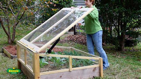 build  raised bed cold frame bonnie plants