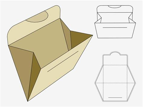 Craft Paper Box - vector footage of a folder or paper pocket template