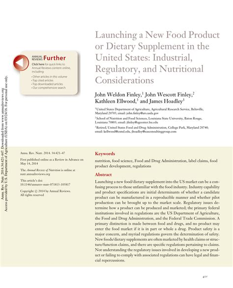 dietary supplements nutritional and legal considerations launching a new food product or dietary pdf download