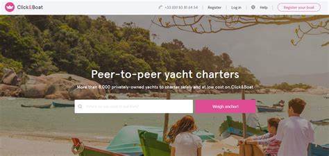 airbnb for boats france france s click boat raises 1 million for its airbnb of