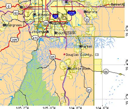 douglas county map colorado douglas county colorado detailed profile houses real