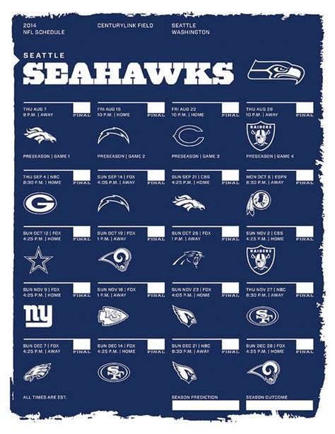 nfl seattle seahawks 2014 schedule car tuning 2017