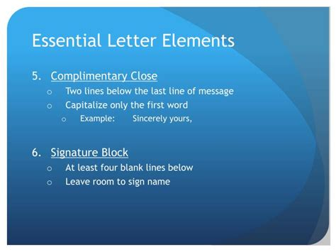 Elements Of Business Letter Ppt ppt business correspondence powerpoint presentation