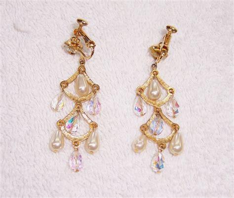 Chandelier Clip On Earrings A Resale 1950s Chandelier Clip On Earrings