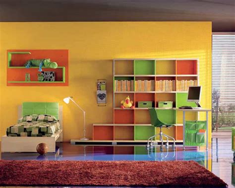 cool shelves for bedrooms cool teen bedroom with bright wall and shelving idea