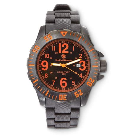 Smith & Wesson Quartz Military Watch   582579, Watches at Sportsman's Guide