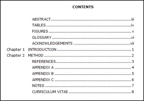 research paper table of contents format writers software and writing editing services supercenter
