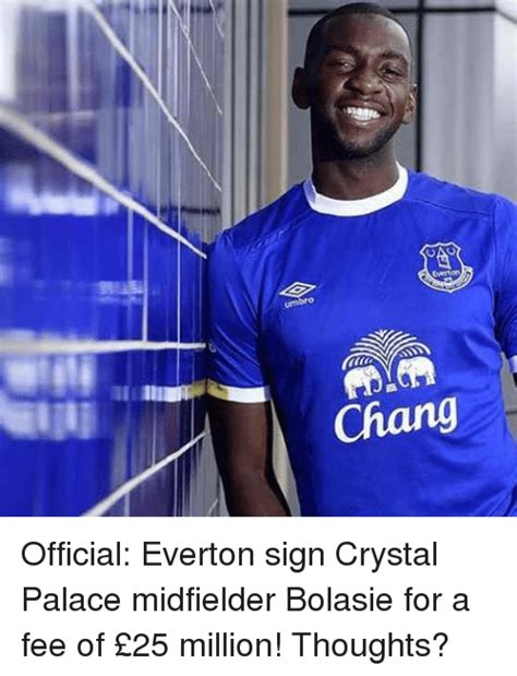 Everton Memes - umbro chang official everton sign crystal palace
