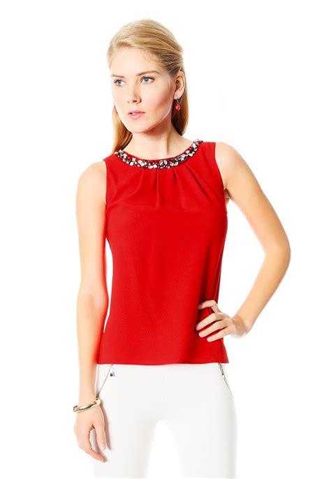 Imagenes De Blusas Rojas | tendencias 2018 187 blusas rojas elegantes 4