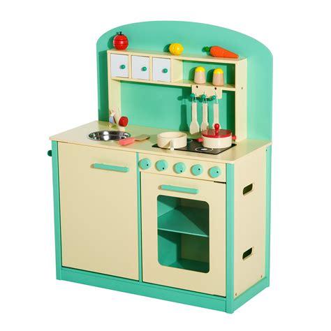 cucina per i bambini homcom cucina giocattolo per bambini con accessori in