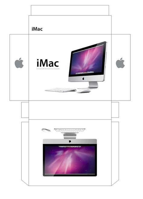 Apple Papercraft - imac box papercraft by facundoneglia on deviantart