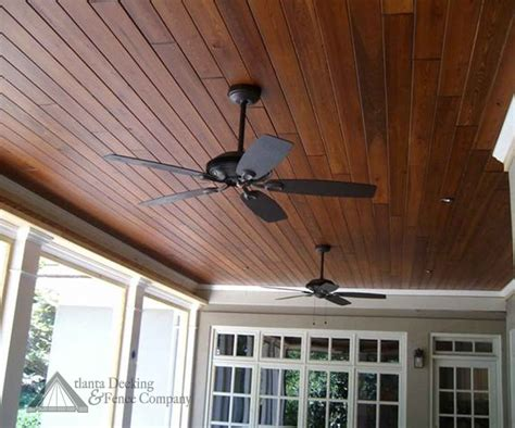 stained t pine ceiling for the home