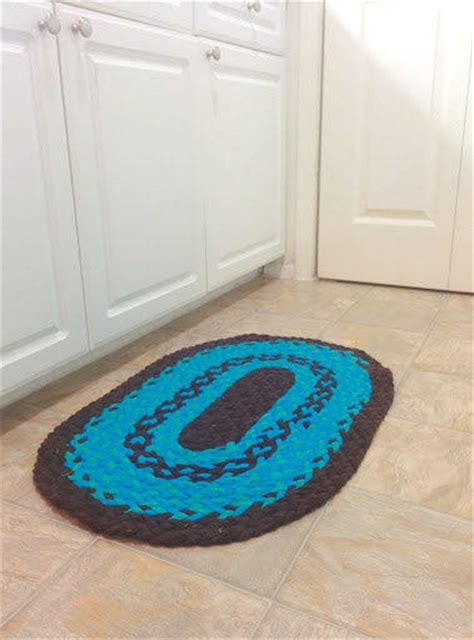 turquoise braided rug turquoise rug brown rug braided rug from likeiguana