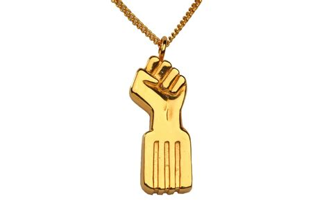 radiant gold black power necklace sewit sium