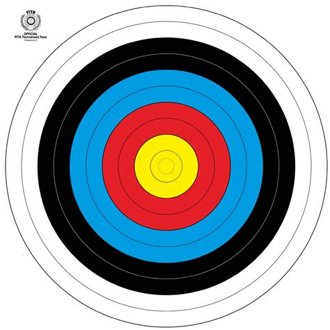 l target the archery company fita target face