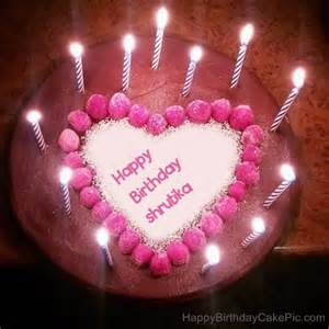 candles heart happy birthday cake for shrutika birthday cake edit by name 14 on birthday cake edit by name
