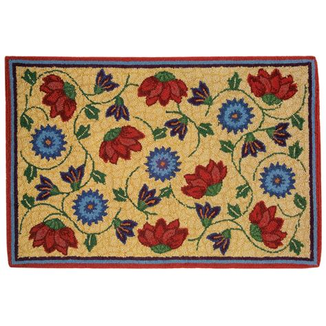Rugs 2x3 by Company C Hooked Wool Accent Rug 2x3 94792 Save 53