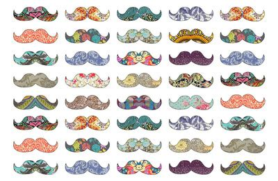 cute colors awesome colorful cute drawing moustache image