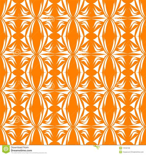 seamless orange pattern seamless floral pattern orange background stock vector