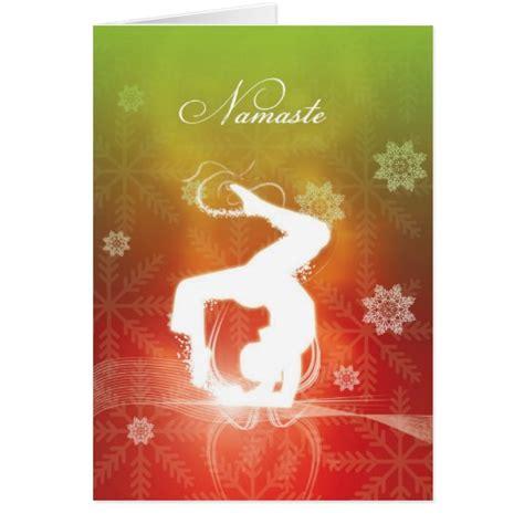 printable yoga greeting cards christmas yoga greeting card zazzle