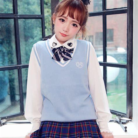 Japan Sweater japanese school vest sweater 183 kawaii