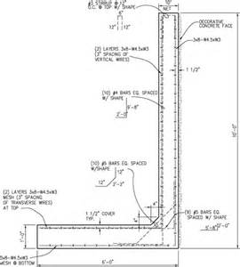 wall l design retaining wall details