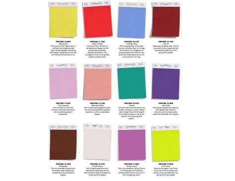 palette pantone colori moda primavera estate 2018 foto 11 19 qnm
