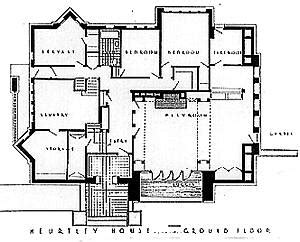 Falling Water Floor Plans by Original Floor Plans Of Arthur B Heurtley House 1902