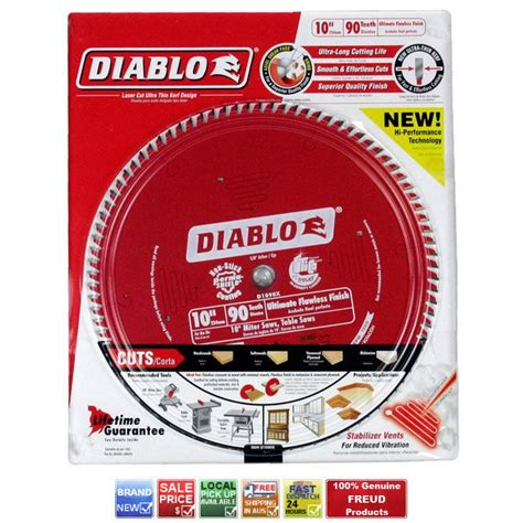 diablo 10 table saw blades freud d1090x diablo 90t 10 quot 255mm miter table saw blade
