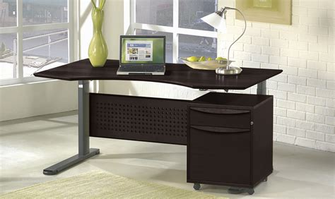 motorized sit stand desk contemporary motorized sit stand desk 63 quot zuri