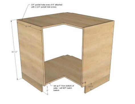 building a corner sink cabinet ana white build a easier 36 quot corner base kitchen cabinet