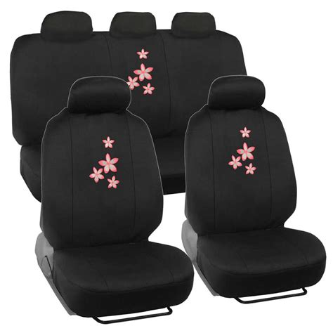 padded seat covers white pink flowers on black car seat covers padded foam cloth