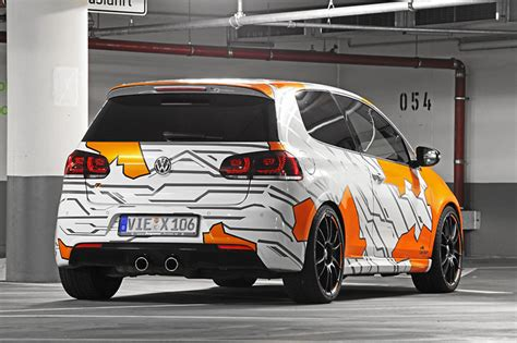 Folie Electric Orange by Volkswagen Golf R Objekt Der Begierde By Cam Shaft