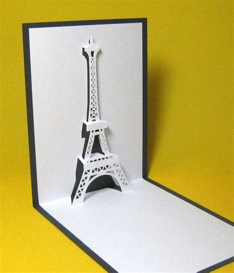 eiffel tower pop up card template pdf eiffel tower in pop up card by galinblack on etsy