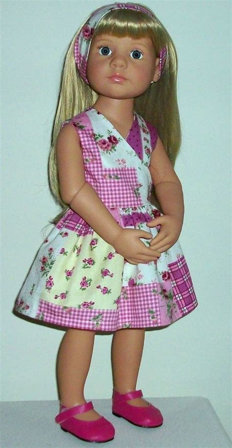 Patchwork Dolls - patchwork roses dress band fits 18 20 quot dolls