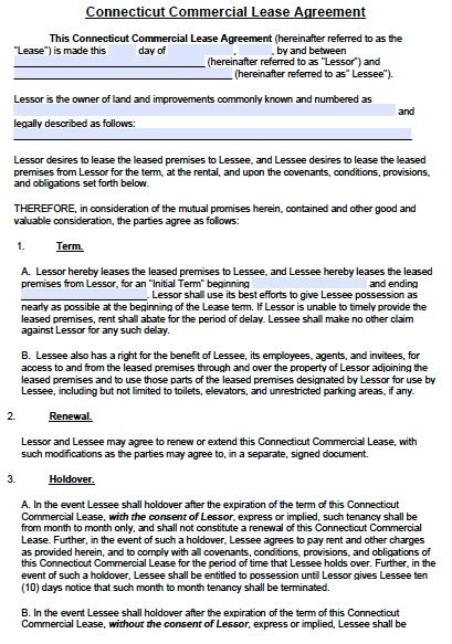 commercial rental agreement template free free connecticut commercial lease agreement template pdf