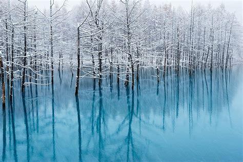 apple wallpaper blue pond まもなく 青い池 に初雪が降りそうです kent shiraishi photo blog
