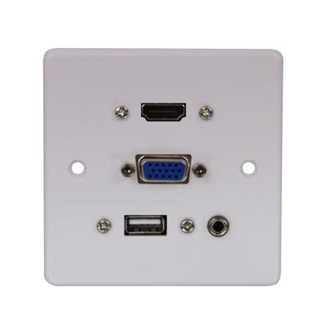 multi hdmi lindy multi av faceplate hdmi vga svga usb 3 5mm audio