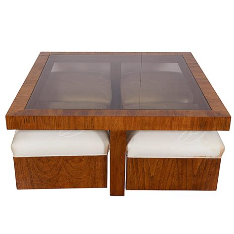 cocktail table with ottoman drexel consensus collection glass top cocktail table with