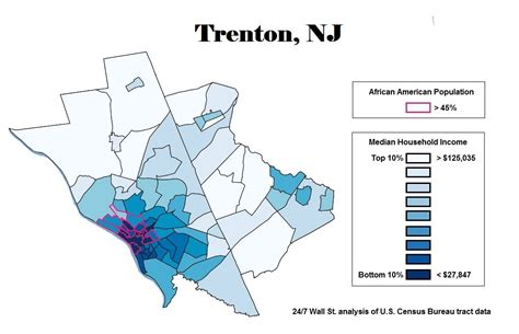 Black Mba Trenton Nj by The Worst Cities For Black Americans 24 7 Wall St