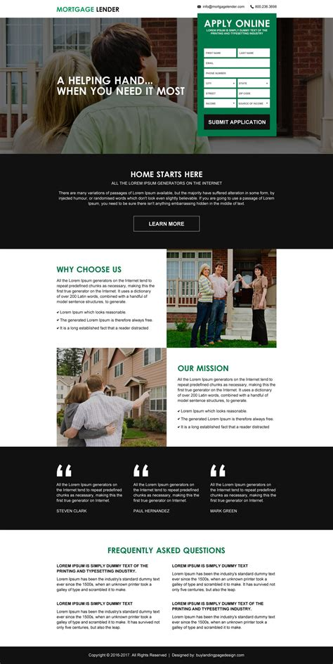mortgage landing page design templates for best conversion
