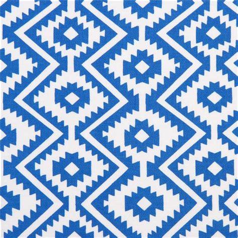 blue and white pattern zig zag blue white eduardo zigzag pattern fabric by michael miller