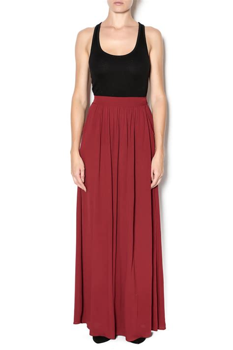 Maxi Maroon 1 vanilla bay maroon maxi skirt from tennessee by southern muse shoptiques