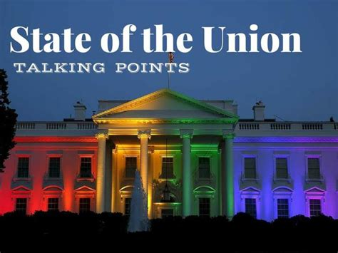 Ppt State Of The Union Talking Points Powerpoint State Of The Presentations