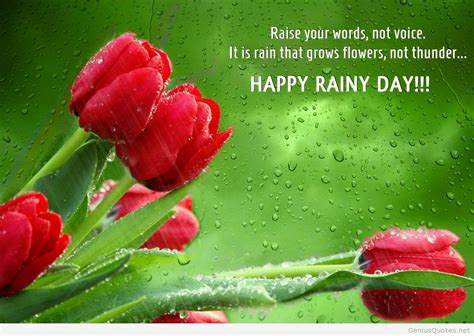 Rainy Birthday Quotes Happy Rainy Day Hd Wallpaper Quote