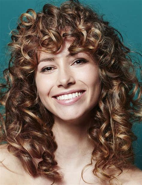 Curly Hairstyles With Bangs And Layers by 3b Curly Hair With Bangs Curly Hair